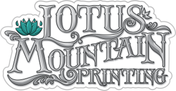 Lotus Mountain Logo Grey Scale Simple